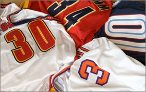 Sports jerseys of all types